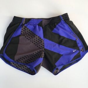 Nike Tempo Shorts S Geo Panty Liner Blue
